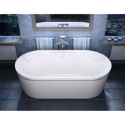 Atlantis Whirlpools Royale Oval Soaking Bathtub, 34 x 67, Center Drain, White