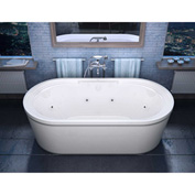 Atlantis Whirlpools Royale Oval Freestanding Whirlpool Bathtub, 34 x 67, Center Drain, White