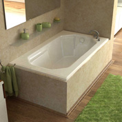 Atlantis Whirlpools Mirage Rectangular Air Jetted Bathtub, 36 x 60, Right Drain, White