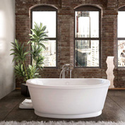 Atlantis Whirlpools Allure Oval Soaking Bathtub, 36 x 66, Center Drain, White