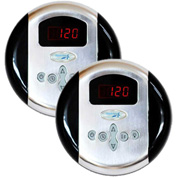SteamSpa G-SC-2-75-PC Programmable Dual Control Panels, Polished Chrome