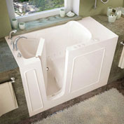 Spa World Venzi Rectangular Air Jetted Walk-In Bathtub, 26x53, Left Drain, Biscuit