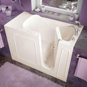 Spa World Venzi Rectangular Soaking Walk-In Bathtub, 26x53, Right Drain, Biscuit