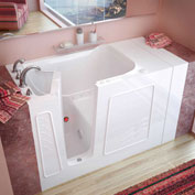 Spa World Venzi Rectangular Air Jetted Walk-In Bathtub, 30x53, Left Drain, White