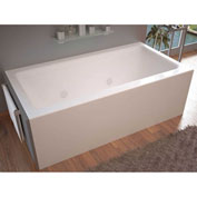 Spa World Venzi Madre Rectangular Whirlpool Bathtub, 30x60, Right Drain, White