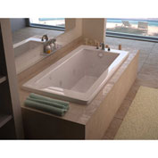 Spa World Venzi Grand Tour Villa Rectangular Air & Whirlpool Bathtub, 32x72, Right Drain, White