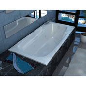 Spa World Venzi Aesis Rectangular Air & Whirlpool Bathtub, 36x60, Left Drain, White