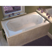 Spa World Venzi Irma Rectangular Air & Whirlpool Bathtub, 36x60, Right Drain, White
