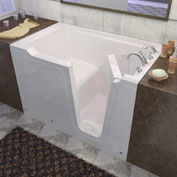 Spa World Venzi Rectangular Soaking Walk-In Bathtub, 36x60, Right Drain, White