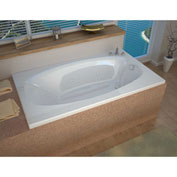 Spa World Venzi Talia Rectangular Whirlpool Bathtub, 36x72, Left Drain, White
