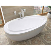 Spa World Venzi Tullia Oval Air Jetted Bathtub, 38x71, Reversible Drain, White