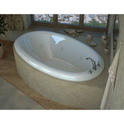 Spa World Venzi Vino Oval Whirlpool Bathtub, 42x70, Right Drain, White