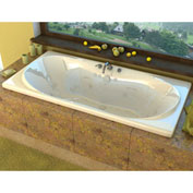Spa World Venzi Bello Rectangular Air & Whirlpool Bathtub, 42x72, Center Drain, White