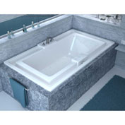 Spa World Venzi Celio Rectangular Air Jetted Bathtub, 46x78, Center Drain, White