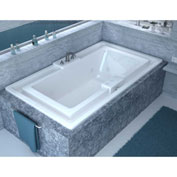 Spa World Venzi Celio Rectangular Whirlpool Bathtub, 46x78, Center Drain, White