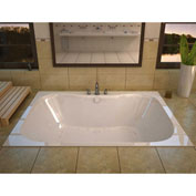 Spa World Venzi Flora Rectangular Air & Whirlpool Bathtub, 40x60, Center Drain, White