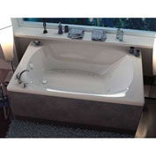Spa World Venzi Grand Tour Aqui Corner Air & Whirlpool Bathtub, 48x78, Center Drain, White