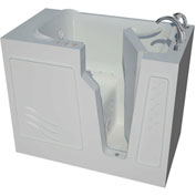 Spa World Venzi Artisan Rectangular Air & Whirlpool Walk-In Bathtub, 26x46, Right Drain, White