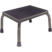 "Hausmann Foot Stool, 14""L x 11""W x 9""H Step, Silver Vein"