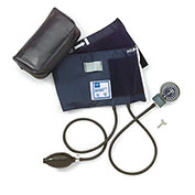 Medline MDS9413 Handheld Aneroid Sphygmomanometer, Large Adult Cuff, Blue
