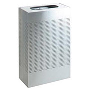 Rubbermaid® Silhouette SR14 Rectangular Open Top Receptacle, 25 Gallon - Stainless Steel