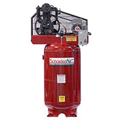 Schrader® Two-Stage Electric Air Compressor SA3580V1, 230V, 5HP, 3PH, 80 Gal