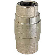 "1-1/4"" FNPT Nickel-Plated Brass Check Valve with Stainless Steel Poppet"