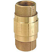 "1-1/4"" FNPT No-Lead Brass Check Valve with Buna-S Rubber Poppet"