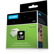 "DYMO® LW Address Labels 1 1/8"" x 3 1/2"" Black on White"