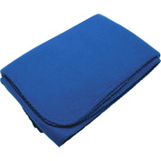 Fleece Blanket with Self-adhesive Carrying Strap