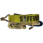 "Safeway 10P30WH 2"" x 30' Ratchet with Wire Hooks 10,000 Lb. Capacity"