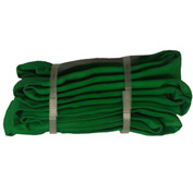 "Safeway SR-2X04 4/5"" x 4' Saf/Grip Endless Polyester Round Sling, Green"