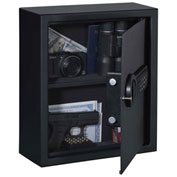 "Stack-On Drawer or Wall Safe PDS-1505 - Electronic Lock 12-3/8""W x 4-5/8""D x 14-7/16""H Matte Black"