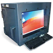 Strong Hold Small Desktop Computer Cabinet