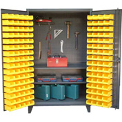 """Strong Hold Upright Tool Storage Cabinet with 94 Bins 36-BS-PB-242 - 36""""W x 24""""D x 78""""H"""