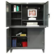 "Strong Hold Two Compartment Cabinet 54"" x 24"" x 78"""