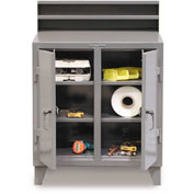 "48""W x 28""D 2 Person Locker Desk - Gray"