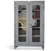 "Strong Hold Heavy Duty Keypad See Thru Door Cabinet 46-LD-244-KP - 48""W x 24""D x 78""H"