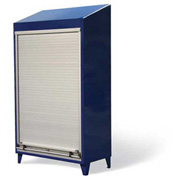 "Strong Hold Heavy Duty Roll-Up Door Cabinet with Slope Top 46-RUDD-244-SL - 48""W x 24""D x 78""H"
