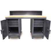 "60""W x 37""D Desk/Worktable Combo"