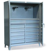 "Strong Hold Drawer Cabinet with Hose Hanger 56-242-1DB-10/5DB-2BKT - 60""W x 24""D x 78""H"