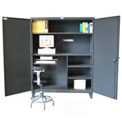 "Strong Hold Workstation with Accessories 60"" x 24"" x 78"""