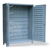 """Strong Hold Cabinet with Hooks 57-BB-240W/HOOKS - 60""""W x 24""""D x 90""""H"""