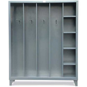 "Strong Hold Open Locker 5.76.5-CSU-244-4OP with Hooks and Shelves - 67""W x 24""D x 83""H"