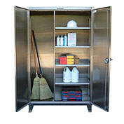 Strong Hold® Heavy Duty Closet Cabinet 65-BC-243-SS - Stainless Steel 72 x 24 x 66