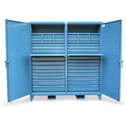 "Strong Hold Cabinet with 35 Drawers 66-DS-244-2SOS-35DB-FLP-KL - 72""W x 24""D x 78""H"