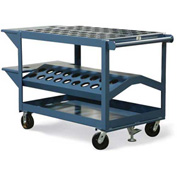 "Strong Hold® Tool & Die Cart DC-3248-1/2C5-2VS-FLK -  48""W x 32""D x 40""H"