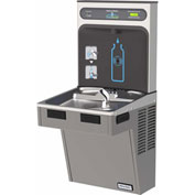 Halsey Taylor HTHB-HAC8PV-WF HydroBoost Refrigerated Bottle Filling Station W/Filter, Platinum Vinyl