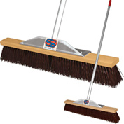 "Super Sweep Inc. 24"" Maroon Poly Super Sweeper Broom - 1000-101024"