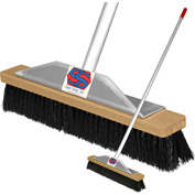 "Super Sweep Inc. 18"" Black Poly Super Sweeper Broom - 1000-108018"